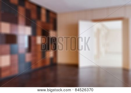 Modern office building interior blur background