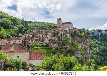 Picturesque Saint Circ Lapopie In France