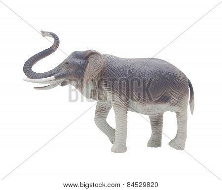 Elephant toy profile.