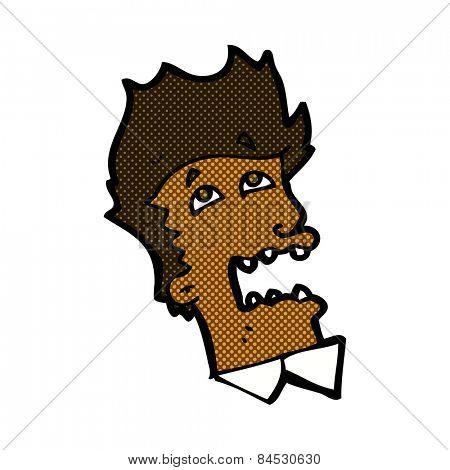 retro comic book style cartoon frightened man