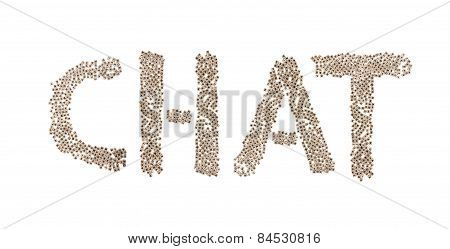 Chat Written With Small Cubes