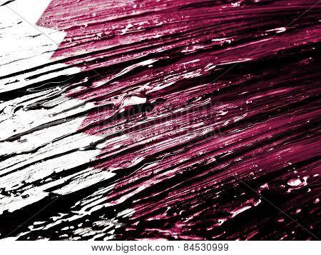 Painted Qatar Flag