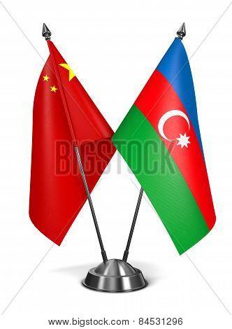 China and Azerbaijan - Miniature Flags.