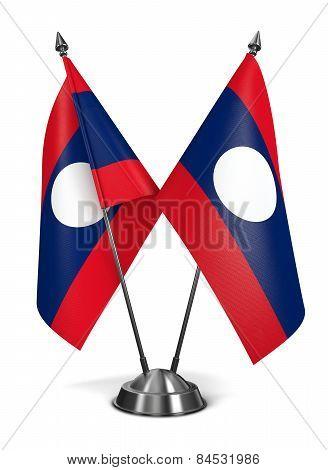 Laos - Miniature Flags.