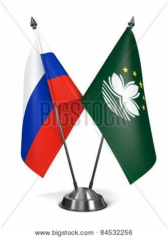 Russia and Macau - Miniature Flags.