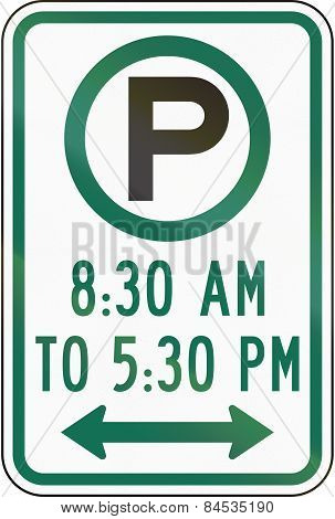 Parking With Time Restriction