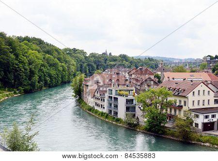 Rhine river in Berne