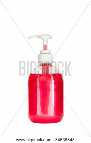 Soap dispenser isolated on white background