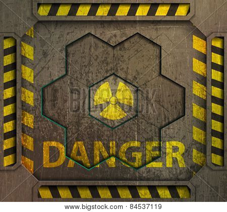 frame, radiation sign,danger