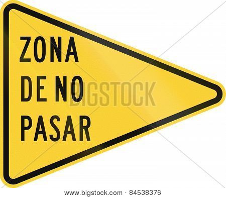Zona De No Pasa