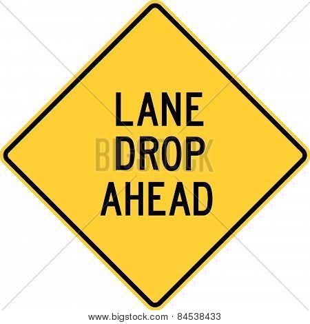 Lane Drop Ahead