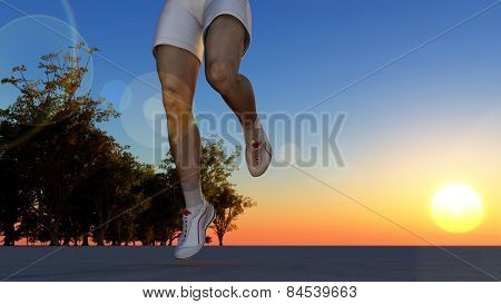 The running person