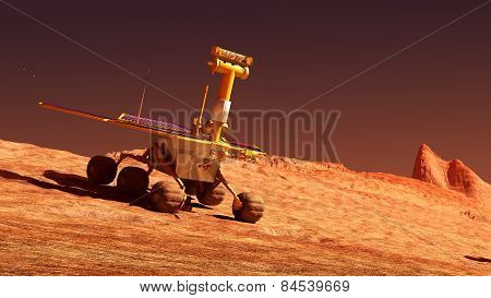 Mars rover on Mars