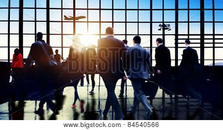 Airport Commuter Business Travel Tour Vacation Concept