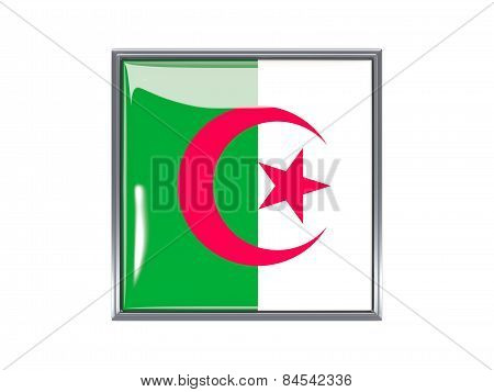 Square Icon With Flag Of Algeria