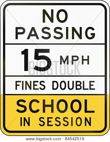 School Speed Limit Sign Arizona