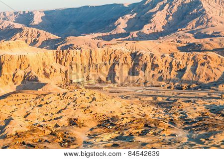 Aerial View Of Temple Of Pharaoh Hatshepsut