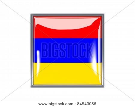 Square Icon With Flag Of Armenia