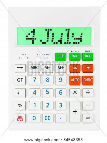 Calculator With 4 July