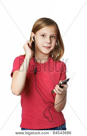 Girl Listening To Music On Your Phone