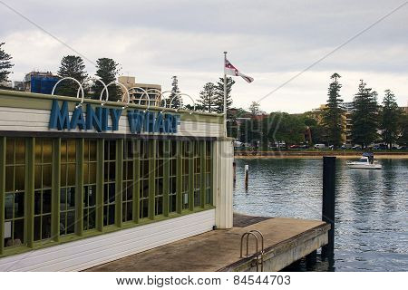 Manly-sydney, Australia.. - December 10, 2014: Manly Wharf Near