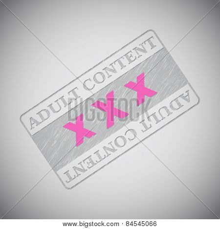 Grunge Adult Content Stamp With Xxx Text