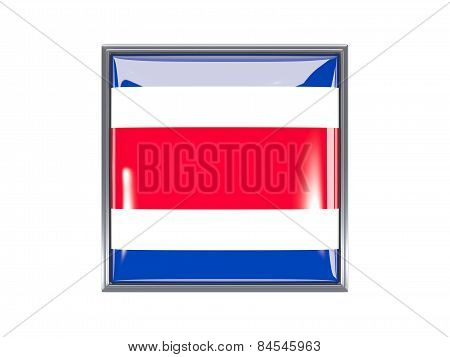 Square Icon With Flag Of Costa Rica