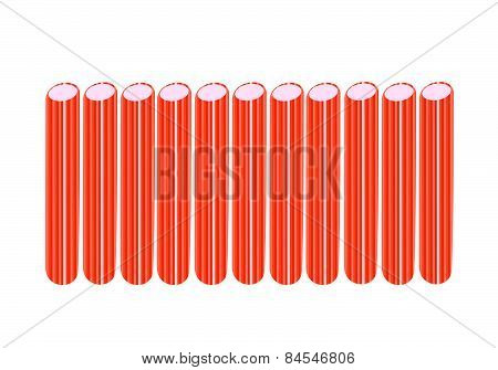 Kani, Surimi Or Crab Stick On White Background