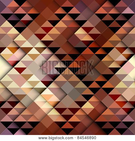 Brown triangles pattern.