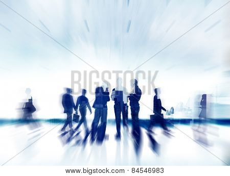 Business People Communication Discussion Planning Commuter Talking Concept