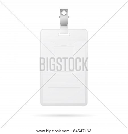Vertical Blank Id Card Isolated On White