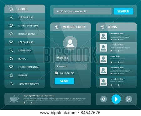 Vector Mobile Ui Template Design With Login