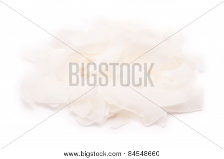 Dried Coco Fruit On A White Background