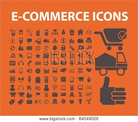 ecommerce, retail, shop, marketing, business, delivery flat isolated concept design icons, symbols, illustrations on background for web and applications, vector