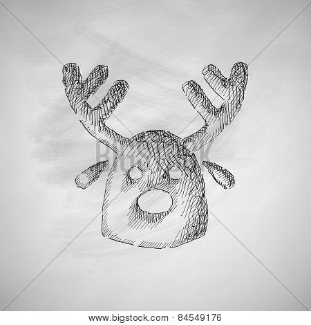 christmas deer icon
