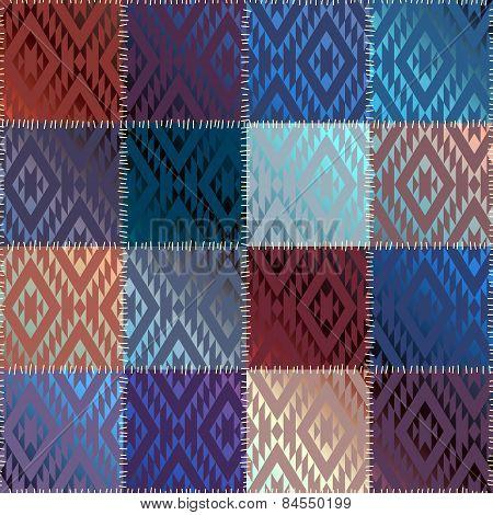 Satin patchwork