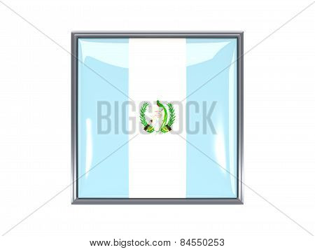 Square Icon With Flag Of Guatemala