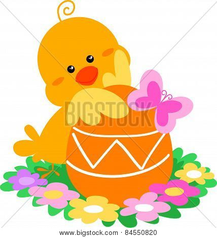 Cute Easter pip vector