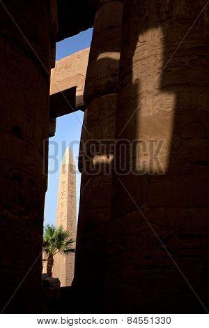 Karnak obelisk sit in the sun shine, Luxor, Egypt