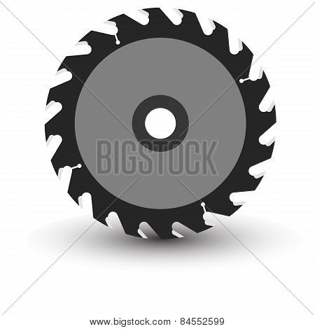 Circular Saw Blade On A White Background.