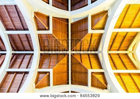 Inticate Ceiling Details In Catholic Church