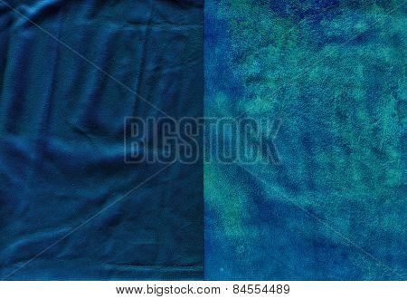 Set Of Vivid Blue Worn Leather Textures