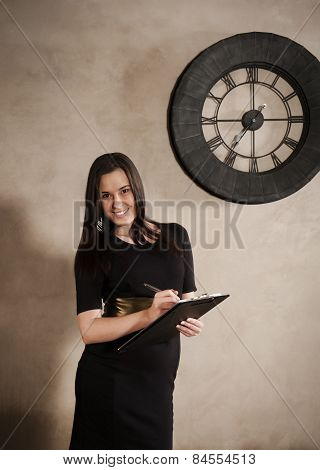 Young attractive confident business woman