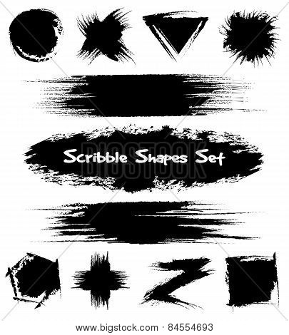 Hand-drawn sketch shapes