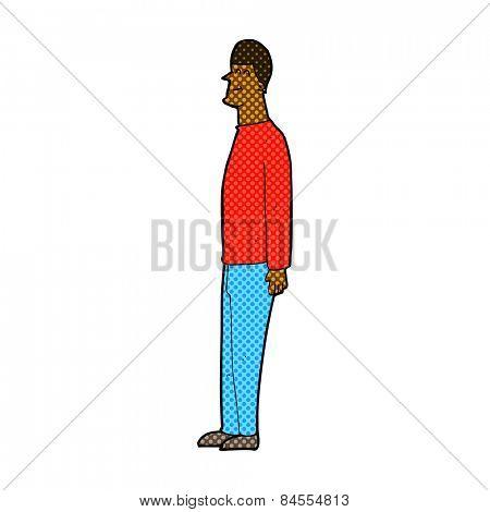 retro comic book style cartoon tall man