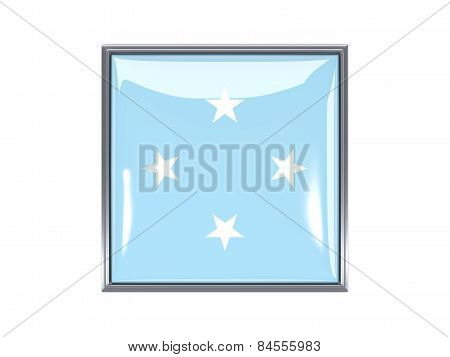 Square Icon With Flag Of Micronesia