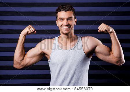 Muscular Handsome.