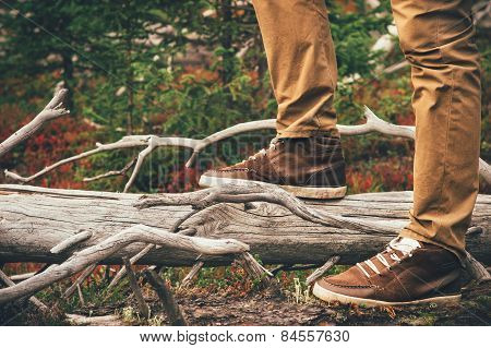 Feet Man walking Outdoor Travel Lifestyle Fashion