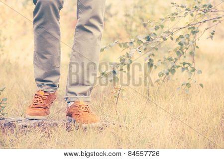 Feet Man walking Outdoor Lifestyle Fashion trendy style