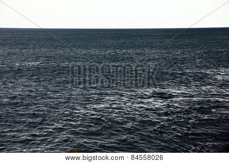 a simple shot of dark sea water